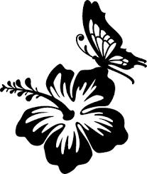 hibiscus flower stickers decals car stickers