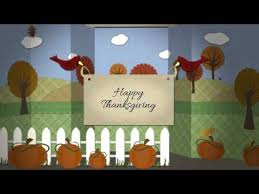 thanksgiving or autumn papercraft greetings after effects