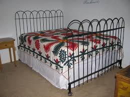 wrought iron queen bed white wrought iron headboard also button
