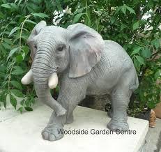 resin elephant animal home or garden ornament woodside
