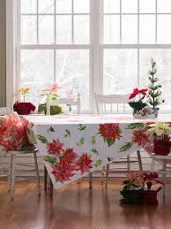 poinsettia tablecloth linens u0026 kitchen tablecloths beautiful