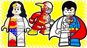 lego justice league superheroes coloring pages lets color