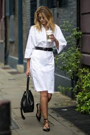 24 right on trend ideas showing how to wear a shirt dress