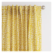Yellow Patterned Curtains Trene Pair Of Mustard Yellow Patterned Curtains 145 X 170cm