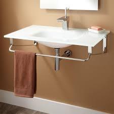 wall mount glass sink signature hardware yesler wall mount glass sink ebay