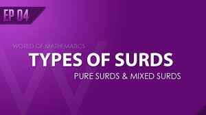 types of purple ep04 types of surds pure surds u0026 mixed surds hindi english