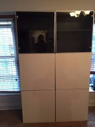 Ikea Besta Doors by Ikea Besta Storage Combination Black Brown Frame Gloss White And