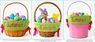 amazon com trellis personalized easter basket liner 4 colors 2