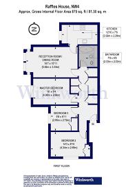 3 bedroom property to let in raffles house 67 brampton grove