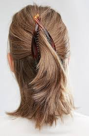 banana clip for hair simple banana clip hairstyles hair pinteres