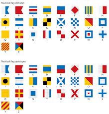 nautical flag data visualization design and information munging martin