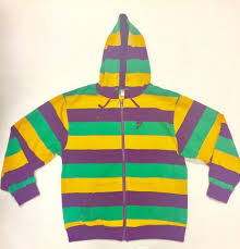 mardi gras sweatshirt mardi gras zippered hooded sweatshirt poree s embroidery