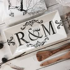 personalized ceramic platters unique monogrammed wedding gifts personalized pottery