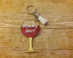 wine glass keychain glitter wine glass etsy