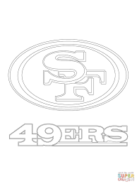 san francisco 49ers logo coloring page free printable coloring