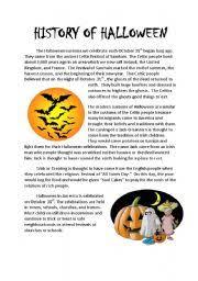 esl worksheets for beginners history of halloween