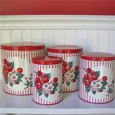 vintage metal kitchen canisters vintage metal kitchen canisters cherries and stripes i finally