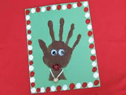 rudolph the nosed reindeer handprint card surviving a