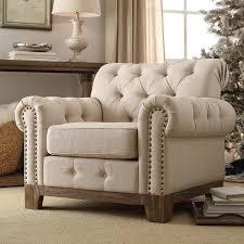 Scroll Arm Chair Design Ideas Greenwich Tufted Scroll Arm Nailhead Beige Chesterfield Chair By