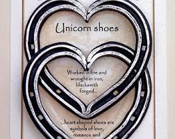 heart shaped horseshoes unicorn horseshoe etsy