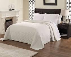 Green Matelasse Coverlet Bedroom White Painting Wooden Vanity Combine With Dark Wood