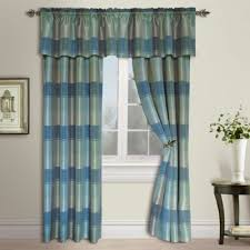 Curtains Blue Green Buy Plaid Curtains Panel From Bed Bath U0026 Beyond