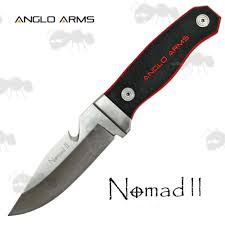 anglo arms nomad ii knife fixed blade hunting knives with guthook