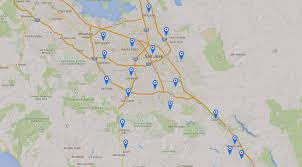 California San Jose Map by Garage Door Replacement And Opener Repair Services In San Jose