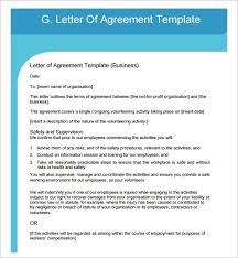 letter of agreement samples template resume builder