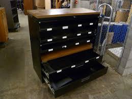 portland state surplus metal flat file cabinet with doors