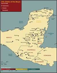 mayan empire map the ancient and modern