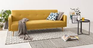 king size sofa bed uk chou sofa bed butter yellow made com
