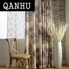 Leaf Pattern Curtains Online Buy Wholesale Brown Patterned Curtains From China Brown