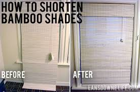 Bamboo Shades Blinds How To Shorten Woven Bamboo Shades Lansdowne Life