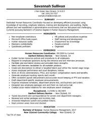 hr resume exles 2 best hr coordinator resume exle livecareer