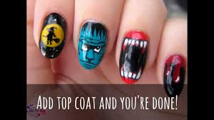 4 halloween nail designs witch zombie vampire teeth blood