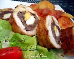recette de cuisine viande blanc de poulet farci a la viande hachée amour de cuisine