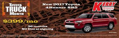toyota dealership deals new lease deals at your kerry toyota dealer serving florence ky