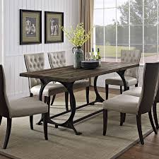 amazon com modway effuse wood top dining table in brown tables
