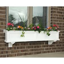 Wooden Window Flower Boxes - mayne 60 inch rectangle polyethylene fairfield window box hayneedle
