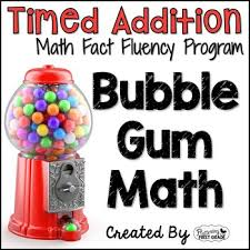 math facts addition math facts timed tests gum math tpt