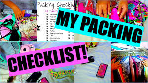 my packing checklist how i pack for vacation youtube