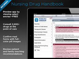 nursing drug handbook app ios tex sample