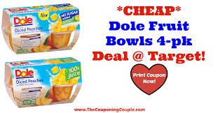 dole fruit bowls target or publix cheap dole fruit bowls 4 pk deal