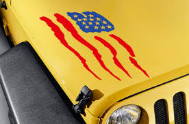 jeep hood decals buy hood eagle wings stars stripes usa flag distressed car truck