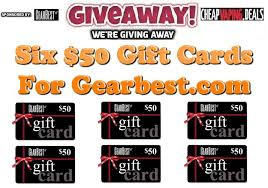 gift cards for cheap giveaway 6 x 50 gift cards for gearbest cheap vaping deals