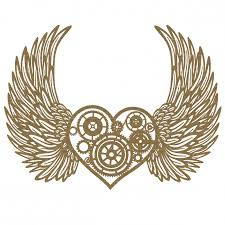 Hearts With Wings - steunk with wings