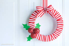 Homemade Christmas Wreaths by Holly Berry Diy Christmas Wreath The Polka Dot Chair