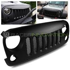 jeep grill icon for 07 17 jeep wrangler jk matte black angry bird wild boar grille