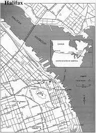 Halifax Canada Map by